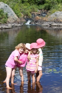 Girls cooling off