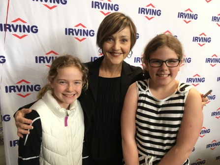 The girls met Heather Rankin