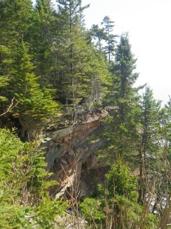 Eroded cliffs!